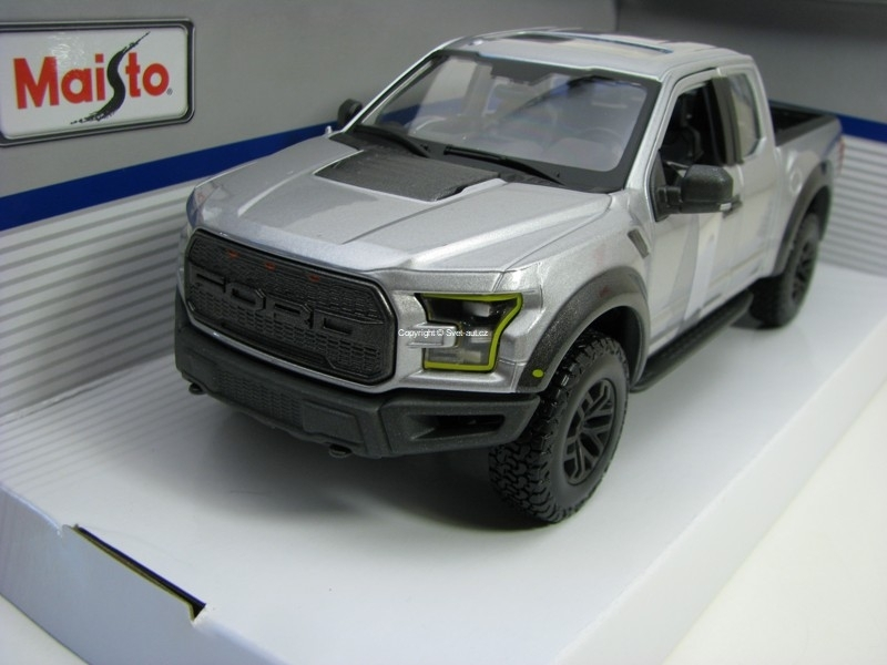 Ford F-150 Raptor SE Trucks 2017 Grey 1:24 Maisto