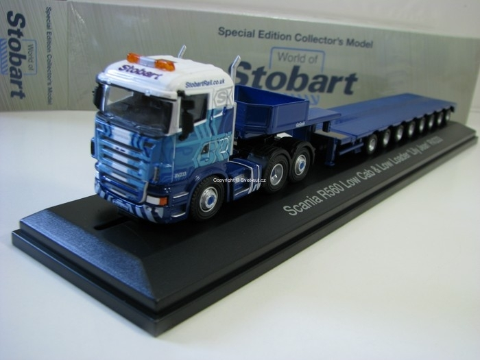 Scania R560 Low Cab a Low Loader RV233 1:76 Atlas Stobart