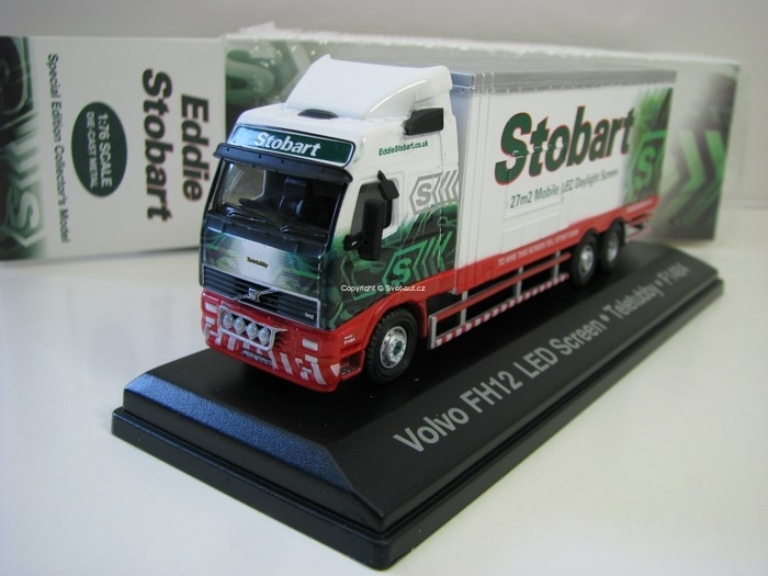Volvo FH Box Van Mobile Led Screen 1:76 Atlas Stobart