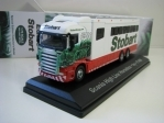 Scania High Line Horse Box Polo Team Ivy F1499 1:76 Atlas Stobart