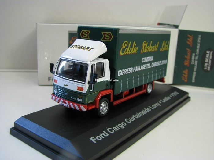 Ford Cargo Curtainside Lorry Leslie F210 1:76 Atlas Stobart