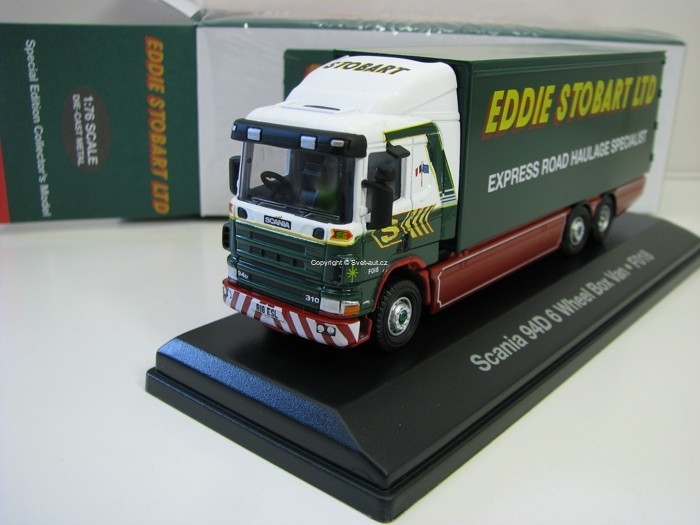 Scania 94D 6 Wheel Box Van F018 Trailer 1:76 Atlas Stobart