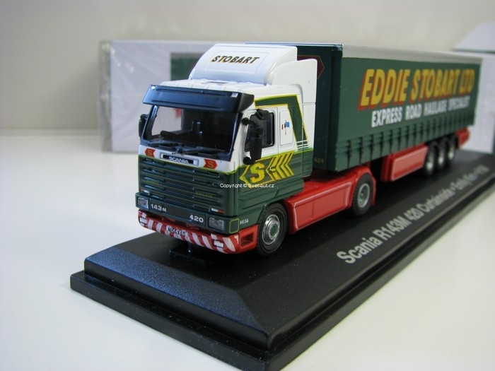 Scania R143M 420 Curtainside Emily Kim H156 1:76 Atlas Stobart
