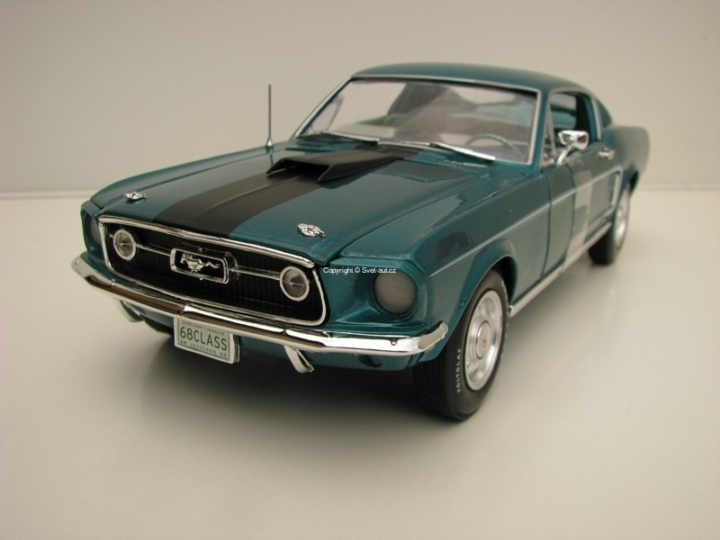 Ford Mustang GT 2+2 Class Of 1968 Turqoise American Muscle 1:18 Ertl Auto World