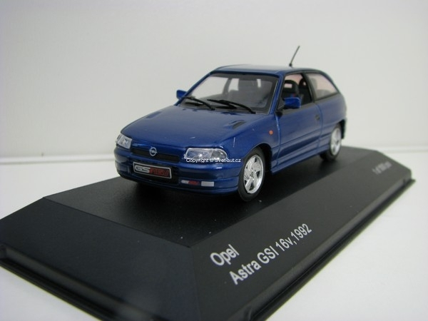 Opel Astra GSI 16v 1992 Blue 1:43 White Box