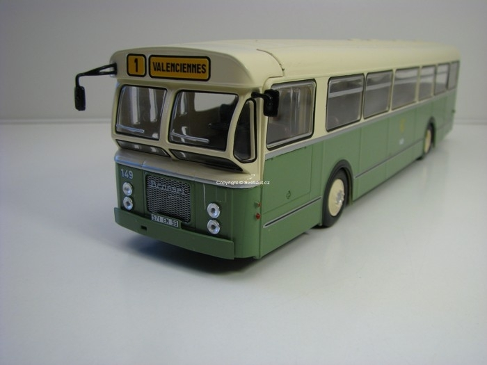 Autobus Brossel BL55 No.1 Valenciennes France 1962 1:43 Atlas