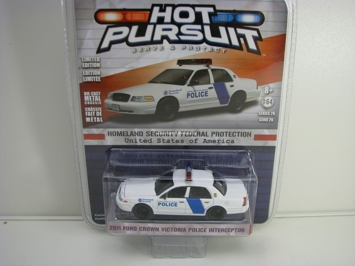 Ford Crown Victoria 2011 Police Interceptor USA 1:64 Hot Pursuit série 26 Greenlight