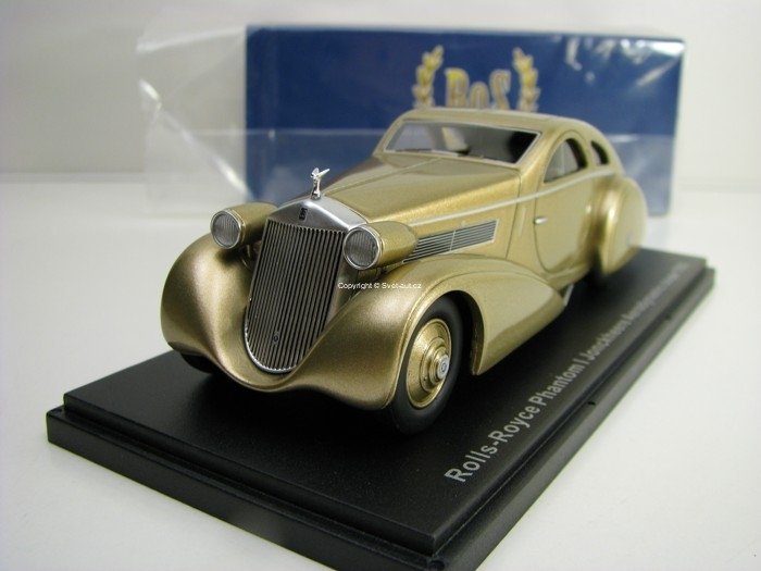 Rolls Royce Phantom I Jonckheere Aerodynamic Coupe 1935 Gold 1:43 BoS-Models