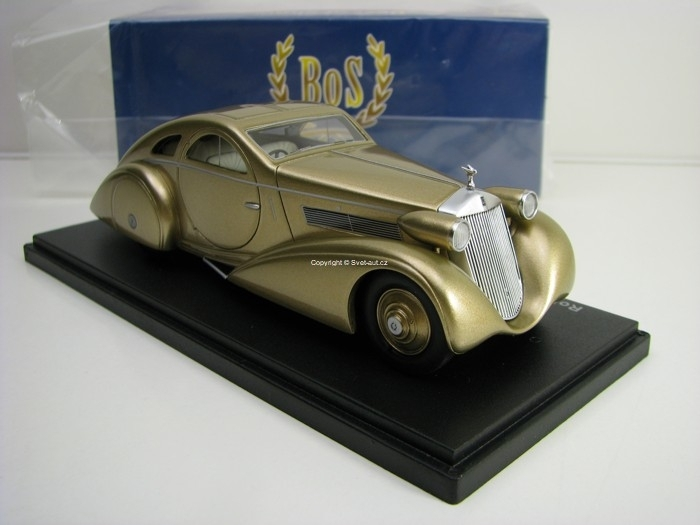 Rolls Royce Phantom I Jonckheere Aerodynamic Coupe 1935 Gold 1:4