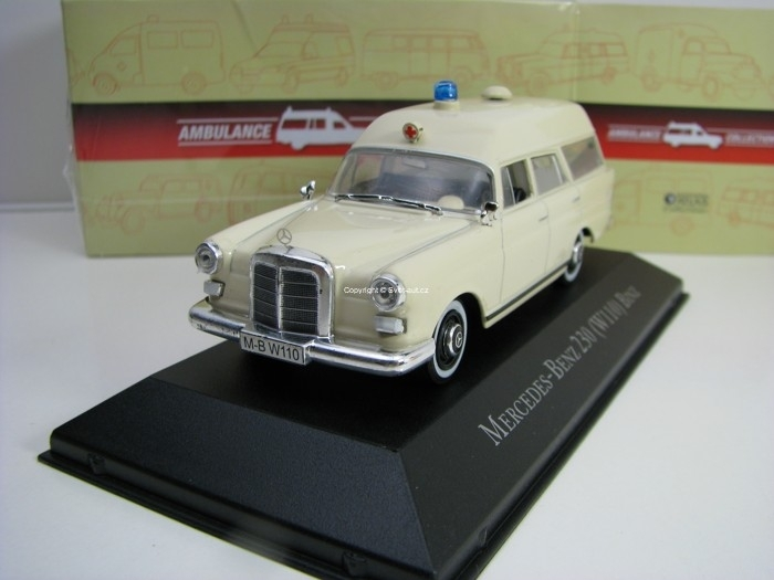 Mercedes-Benz 230 W110 Binz 1:43 Atlas Edition Ambulance