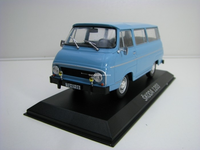 Škoda 1203 blue 1:43 Legendární auto Atlas Edition