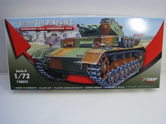 German Tank Pz.Kpfw. IVC Normandy 1944 stavebnice 1:72 Mirage Hobby 728053