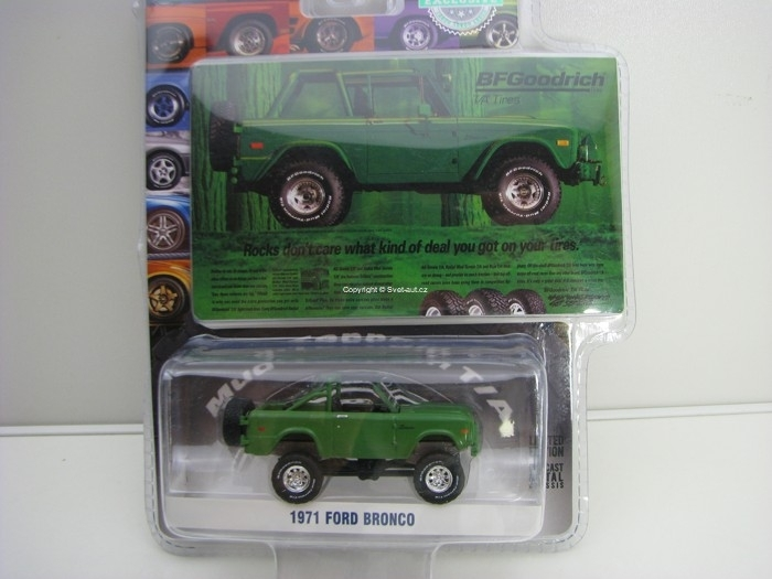 Ford Bronco 1971 BF Goodrich Hobby Exclusive 1:64 Greenlight GR29942