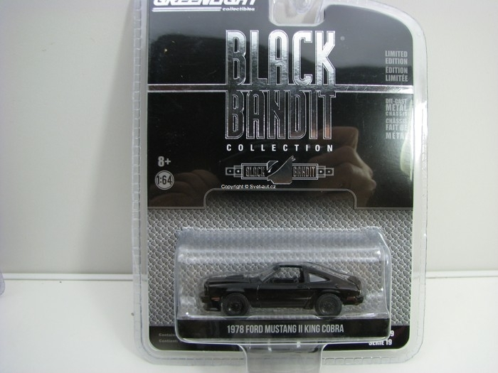 Ford Mustang II King Kobra 1978 Black Bandit série 19 1:64 Greenlight