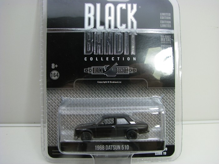 Datsun 510 1968 Black Bandit série 19 1:64 Greenlight