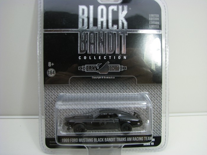 Ford Mustang Trans AM Racing Team 1969 Black Bandit série 19 1:64 Greenlight