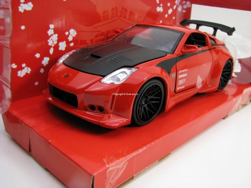 Nissan 350Z 2003 Red 1:24 JDM Tuners Jada Toys