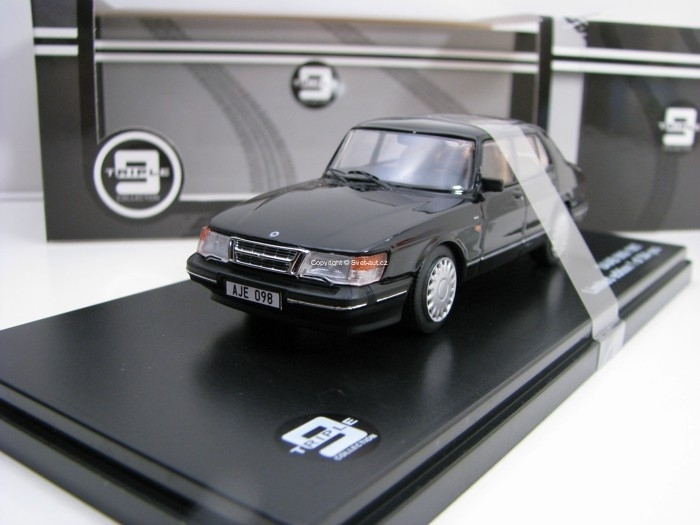 Saab 900i 1987 Black 1:43 Triple 9 Collection