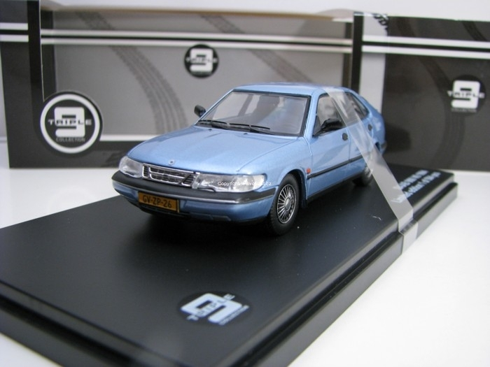 Saab 900 V6 1994 Blue 1:43 Triple 9 Collection