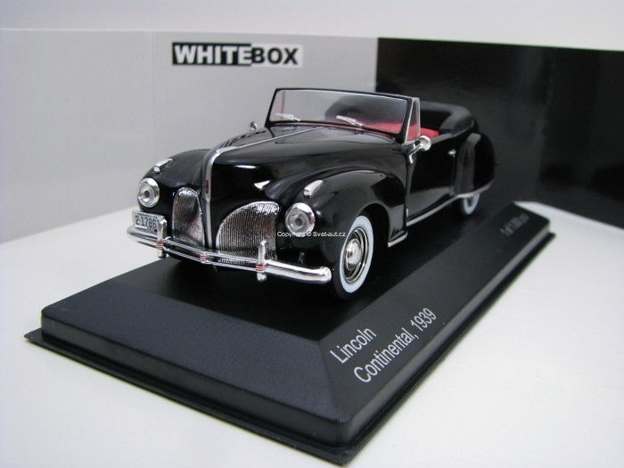 Linkoln Continental 1939 Black 1:43 White Box WB117