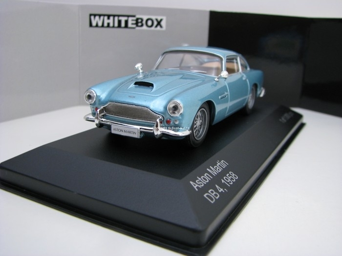 Aston Martin DB 4 1958 Blue 1:43 White Box WB150