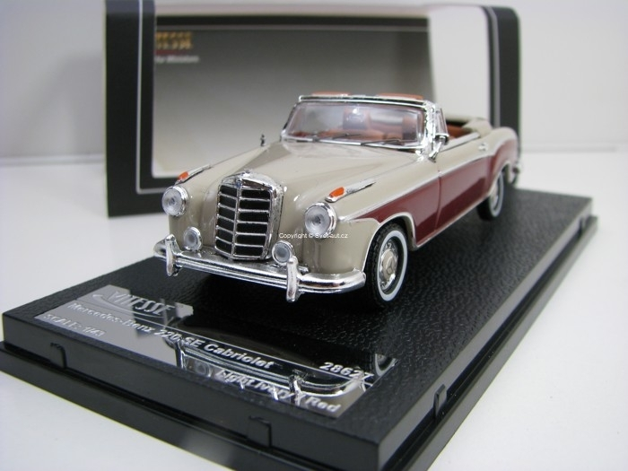 Mercedes-Benz 220 SE Cabriolet Light Ivory/Red 1:43 Vitesse 28627