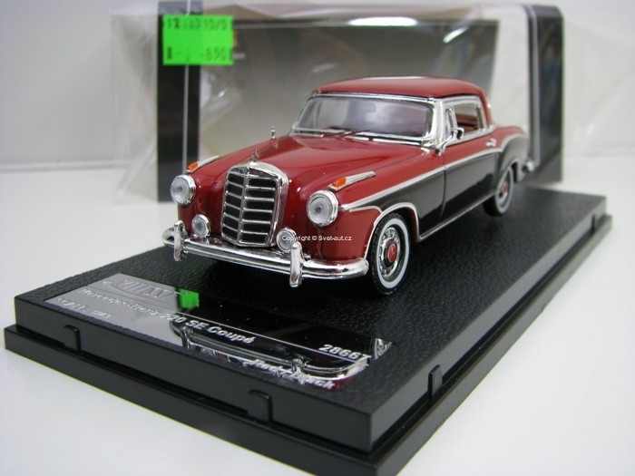 Mercedes-Benz 220 SE Coupé Black/Red 1:43 Vitesse 28667