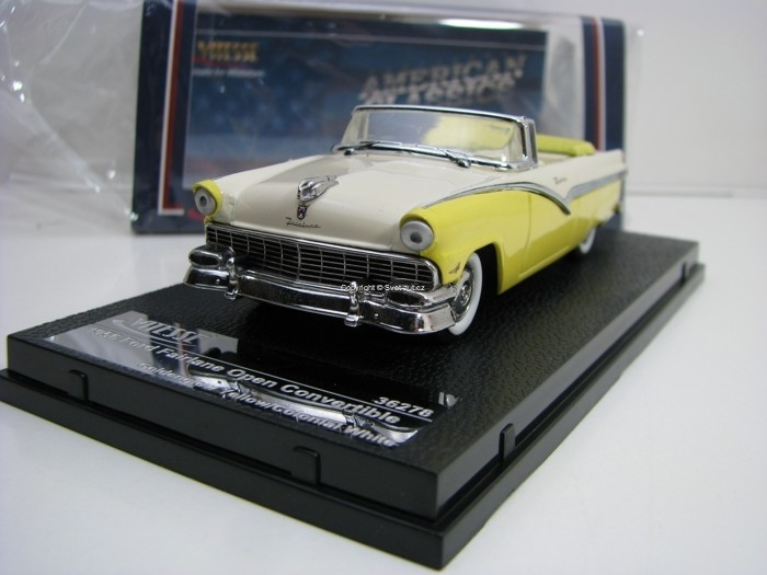 Ford Fairlane open convertible 1956 Yellow/White 1:43 Vitesse 36278