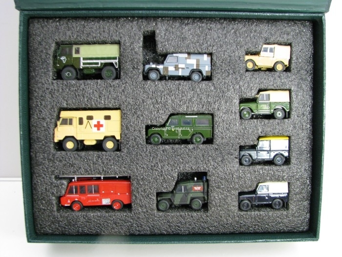Land Rover Military set 10 Ks 1:76 Oxford