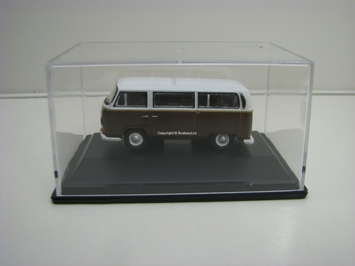Volkswagen Bay Window Brown/White 1:76 Oxford