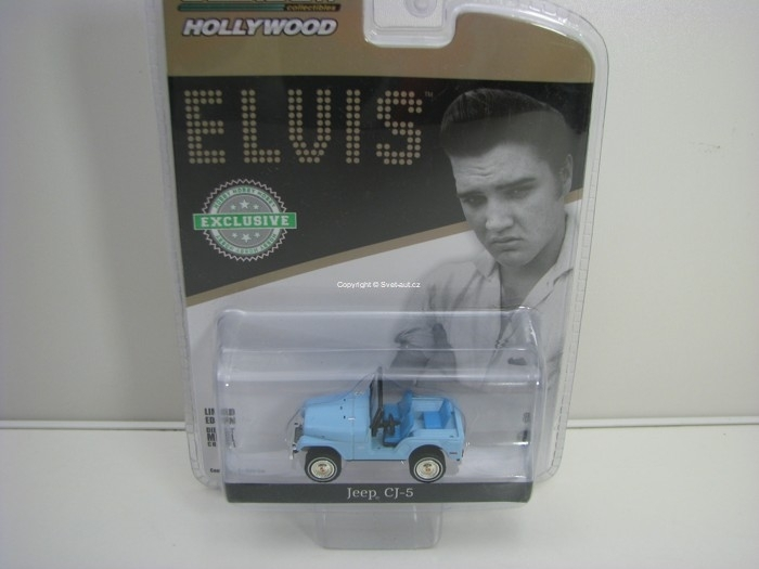 Jeep Cj-5 Blue Elvis Presley Hobby Exlusive 1:64 Greenlight 29955