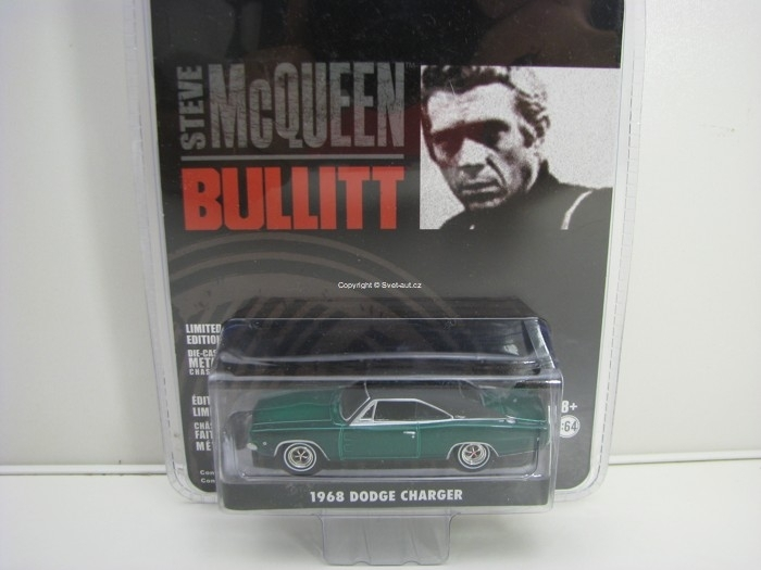 Dodge Charger 1968 Green McQueen Bullitt 1:64 Greenlight 44741