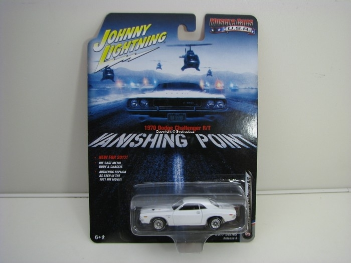 Dodge Challenger R/T 1970 Vanishing Point 1:64 Johny Lightning