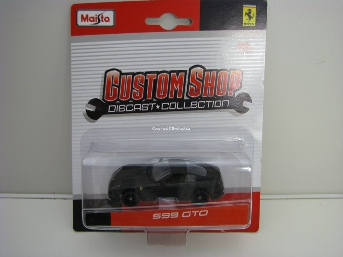 Ferrari 599 GTO Matto Black 1:64 Custom Shop Maisto