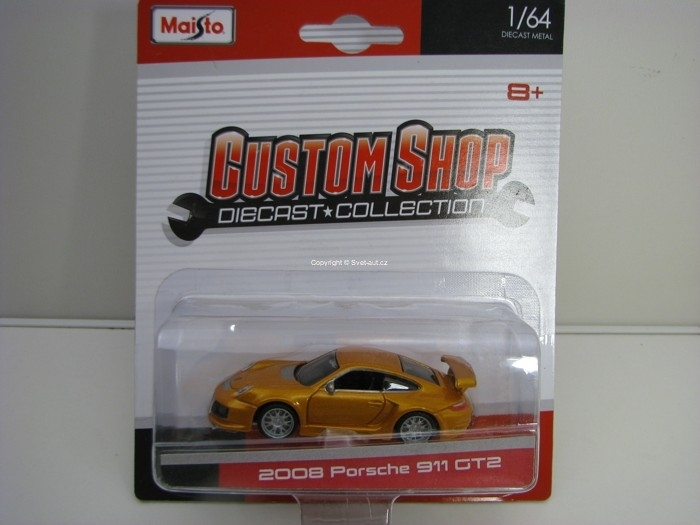 Porsche 911 GT2 2008 Orange 1:64 Custom Shop Maisto