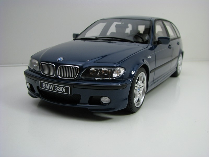 BMW 330i (E46) Touring M Pack 2005 Mystic Blue 1:18 OttOmobile