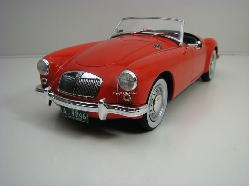 MG A 1600 Roadster MK I Elvis Presley Red 1:18 Greenlight