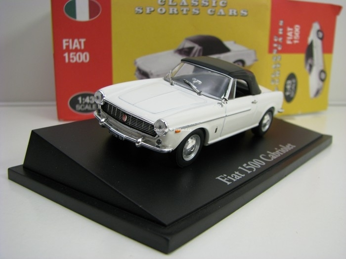 Fiat 1500 Cabriolet White 1:43 Atlas Edition