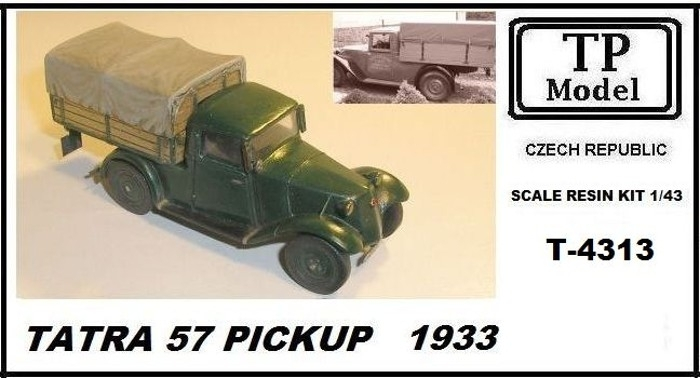 Tatra 57 pick up 1932 resinová stavebnice 1:43 TP model