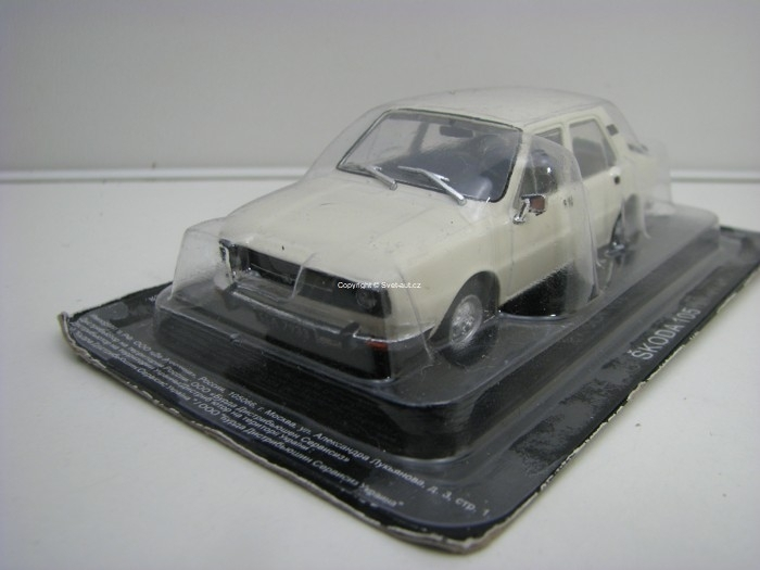Škoda 105 White 1:43 Ist Atlas edition