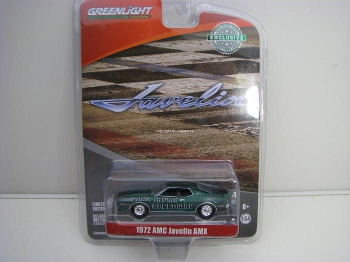 AMC Javelin AMX 1972 Green Hobby Exlusive 1:64 Greenlight 29948