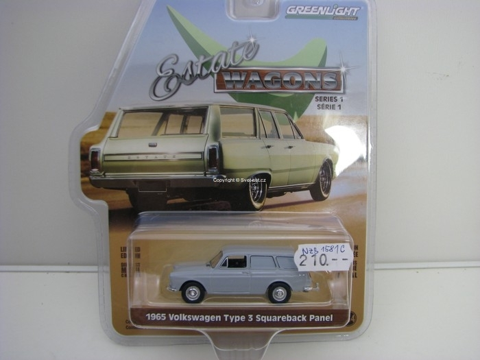 Volkswagen Type 3 Squareback Panel Estate Wagons série 1 1:64 Greenlight 29910