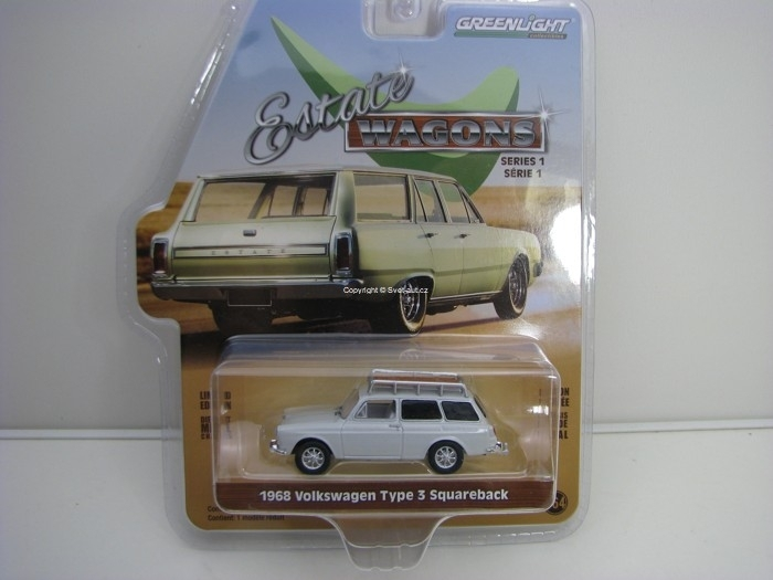 Volkswagen Type 3 Squareback Estate Wagons série 1 1:64 Greenlight 29910