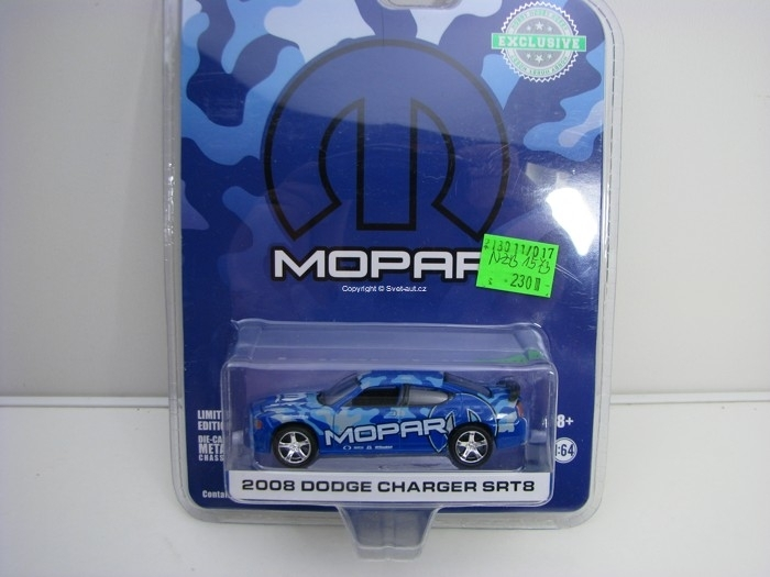 Dodge Charger SRT8 2008 MOPAR Hobby Exlusive 1:64 Greenlight 29961