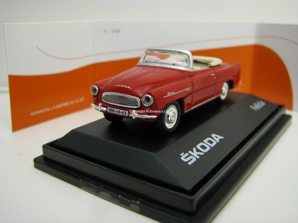 Škoda Felicia Roadster 1963 Dark Red 1:72 Abrex