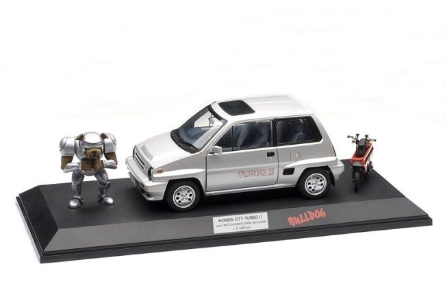 Honda City Turbo II with Motocompo a Iron Bulldog 1:18 Autoart
