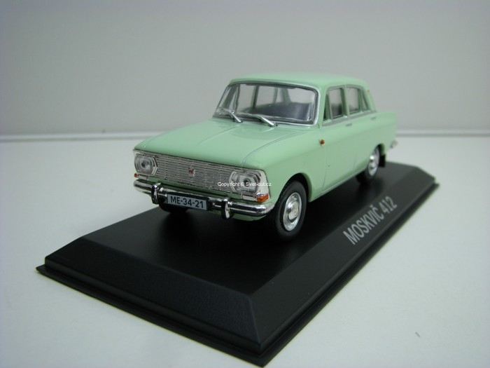 Moskvitch 412 light Green Legendární auto 1:43 Atlas Edition