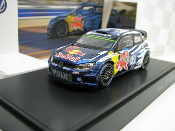 Volkswagen Polo R WRC Red Bull No.1 Ogier Rally MC 2015 1:43 Spark