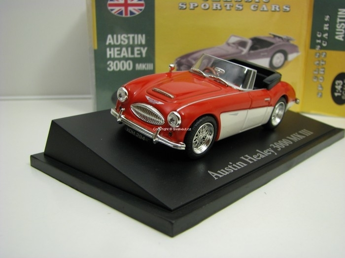 Austin Healey 3000 MKIII Red/White 1:43 Atlas Edition