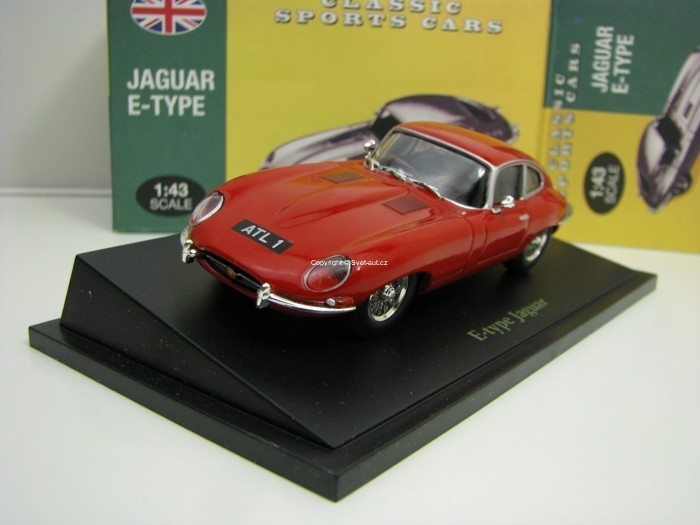 Jaguar E Type Red 1:43 Atlas Edition